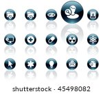 white on black aqua icons   set ... | Shutterstock .eps vector #45498082