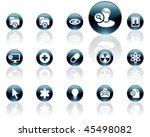 white on black aqua icons   set ... | Shutterstock .eps vector #45498082