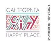 santa cruz city. design fashion ... | Shutterstock .eps vector #454992676