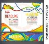 vector template design strips... | Shutterstock .eps vector #454993435