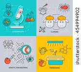 biotechnology icon set with... | Shutterstock .eps vector #454994902