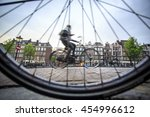 Riding A Bicycle In Amsterdam ...