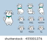 cute vector personage. poses... | Shutterstock .eps vector #455001376
