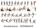 collection of business people... | Shutterstock .eps vector #455006635