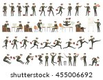 collection of business people... | Shutterstock .eps vector #455006692
