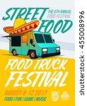 food truck festival food... | Shutterstock .eps vector #455008996