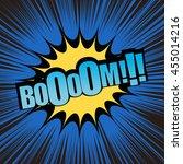 boom comic text. pop art style. ...   Shutterstock .eps vector #455014216