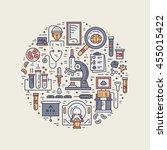 unique medical illustration... | Shutterstock .eps vector #455015422