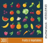 flat icons in fruits and...   Shutterstock .eps vector #455015935