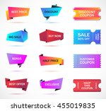 vector stickers  price tag ... | Shutterstock .eps vector #455019835