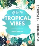 bright hawaiian design with...   Shutterstock .eps vector #455020678