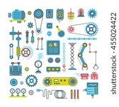 vector parts of mechanism and... | Shutterstock .eps vector #455024422