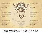 restaurant or cafe menu... | Shutterstock .eps vector #455024542