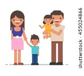 beautiful young family portrait.... | Shutterstock .eps vector #455024866