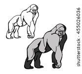graphic gorillas in the color...   Shutterstock .eps vector #455026036