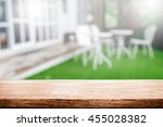 empty wooden table space... | Shutterstock . vector #455028382