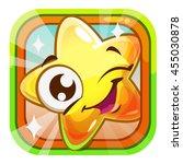 funny shiny blinking star... | Shutterstock .eps vector #455030878