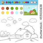 coloring book page template... | Shutterstock .eps vector #455033638