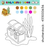 coloring book page template... | Shutterstock .eps vector #455033656