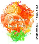 ornametal poster independence... | Shutterstock .eps vector #455035465