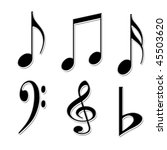 white background with music... | Shutterstock . vector #45503620