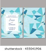 save the date card. wedding... | Shutterstock .eps vector #455041906