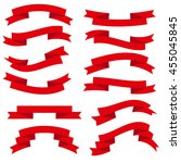 ribbon set   Shutterstock .eps vector #455045845