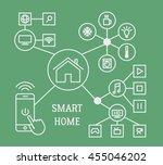 smart home infographic concept... | Shutterstock . vector #455046202