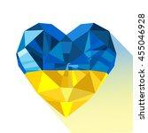 vector crystal gem jewelry... | Shutterstock .eps vector #455046928