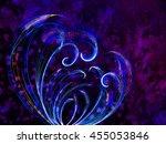 flower style smoke line fire... | Shutterstock . vector #455053846