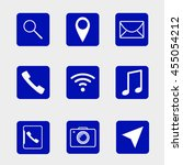 simple icons. vector... | Shutterstock .eps vector #455054212