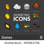 isometric outline icons  3d... | Shutterstock .eps vector #455061736