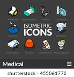 isometric outline icons  3d... | Shutterstock .eps vector #455061772