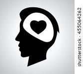 head. man. heart. love. flat... | Shutterstock .eps vector #455064262