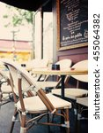 vintage street cafe in paris | Shutterstock . vector #455064382