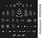 uncommon ethnic vector hand... | Shutterstock .eps vector #455069656