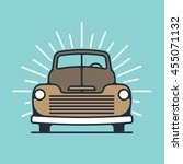one thin line  flat vintage... | Shutterstock .eps vector #455071132