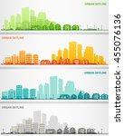 cityscape set | Shutterstock .eps vector #455076136