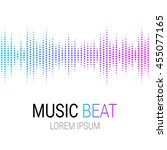 colored music beat. abstract... | Shutterstock .eps vector #455077165