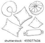 hand draw sketch vector... | Shutterstock .eps vector #455077636