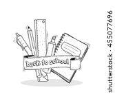 welcome back to school | Shutterstock .eps vector #455077696