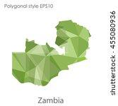 zambia map in geometric...   Shutterstock .eps vector #455080936