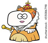 the so called virgin queen ... | Shutterstock .eps vector #455086798