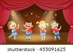 illustration of school children ... | Shutterstock .eps vector #455091625