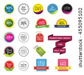 promotional badges and sale...   Shutterstock .eps vector #455095102