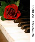 love  music  and rose   Shutterstock . vector #45510001