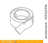 scotch. roll of adhesive tape.... | Shutterstock .eps vector #455101996