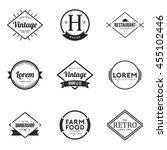 set of vintage logo and badge.... | Shutterstock .eps vector #455102446