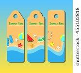 summer beach design... | Shutterstock .eps vector #455102818