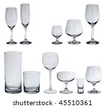 set of glasses for alcoholic... | Shutterstock . vector #45510361